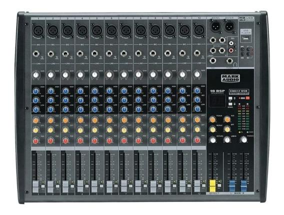 Mesa De Som 12 Canais Mark Audio Cmx 12 Usb Garantia Cmx12