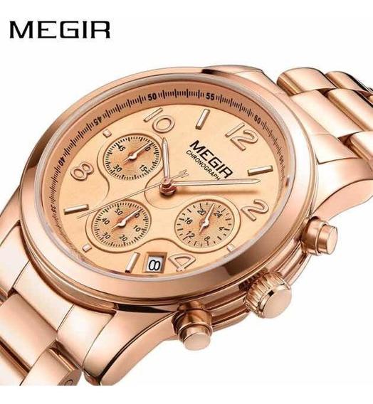 Relógio De Pulso Feminino Quartzo Megir - 2057