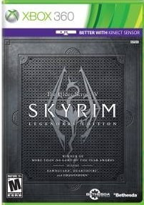 Skyrim Legendary Edition (mídia Física) Xbox 360 (novo)