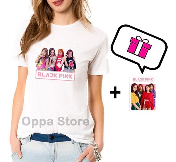 Remera K-pop Black Pink + Sticker De Regalo!! Jisoo, Jennie,