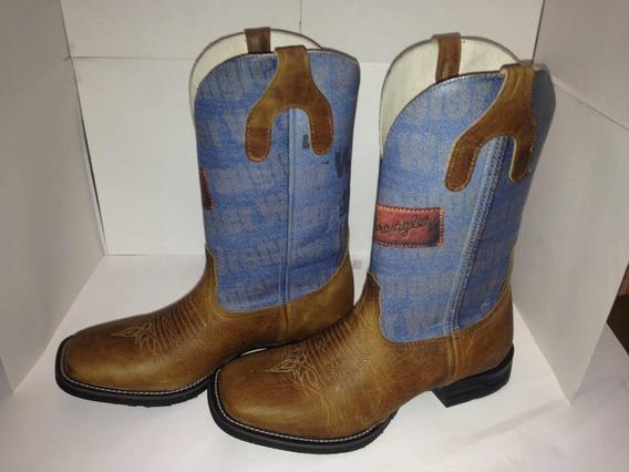 Texana Masculina Imitação Jeans Wrangler