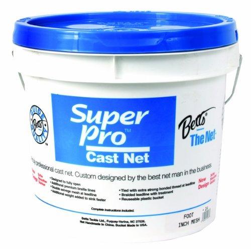 Betts Super Pro 6foot Mono Cast Net Con Malla De 12 Pulgadas