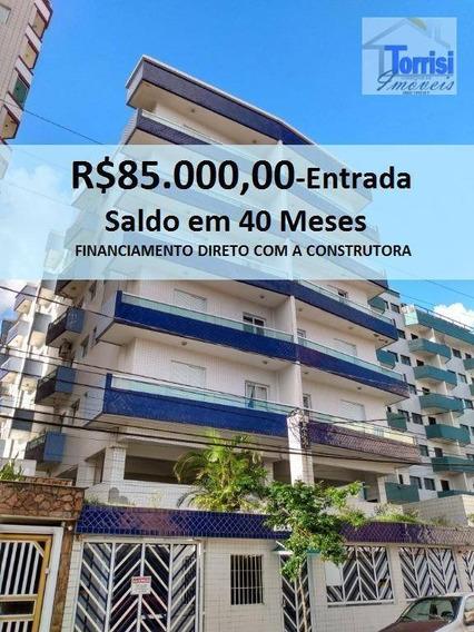 Apartamento Em Praia Grande, 01 Dormitório, Vila Mirim, Ap2081. - Ap2081