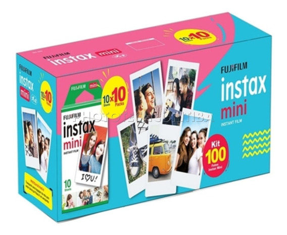 Filme Instax Mini Kit C/ 100 Fotos Fujifilm Instantâneo