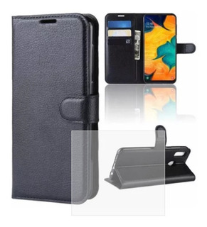Funda Wallet Flip Cover Cuero Samsung A10 A20 A30 A50
