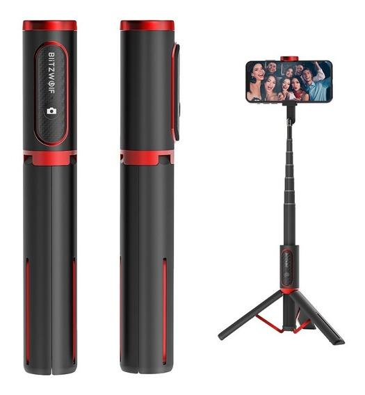 Pau Selfie E Tripé Blitzwolf Bw Bs10 Controle Bluetooth