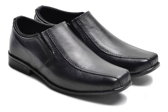 Sapato Social Infantil Em Couro Com Elásticos 12xs/ Juros