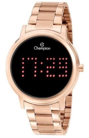 Relógio Champion Unissex Digital Ch40044p Rose Redondo