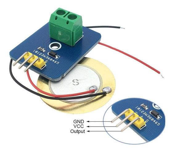 Módulo Piezoelétrico Sensor De Vibração E Toque Para Arduino