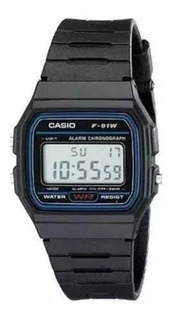 Relógio Casio Masculino F-91w 1dg Pulseira Emborrachada