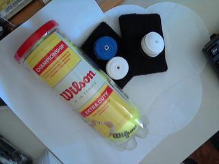 Kit Tenista Prevenido 1 Bola 2 Munhequeiras 3 Grips - Hpsis
