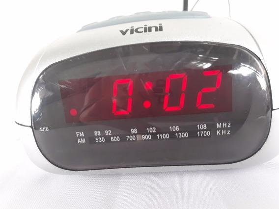 Rádio Relógio Vicini Vc15 Am Fm Bivolt Cod 1532
