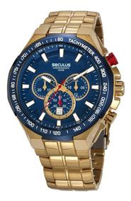 Relógio Seculus Masculino 20730gpsvla1