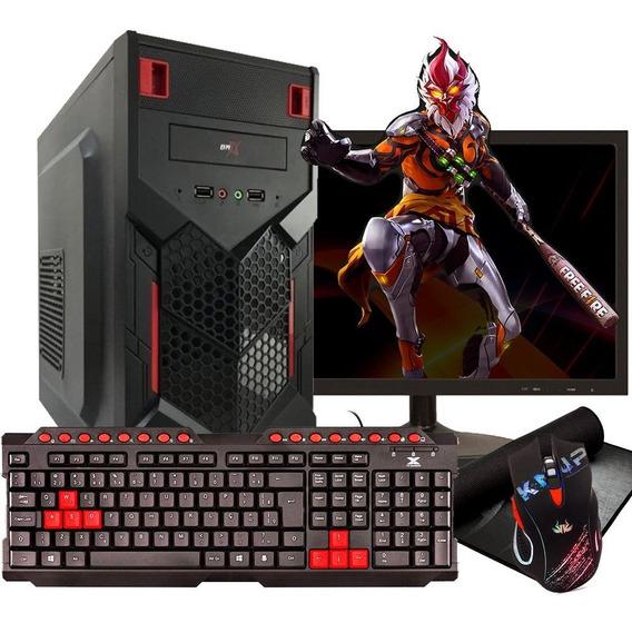 Pc Gamer Completo Barato Novo/ 500 Gb + Monitor / Free Fire