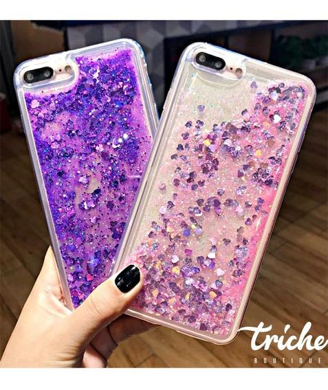 Funda Diseño Brillos Pecera Color iPhone 7 8 6+ 6s+ 7+ 8+