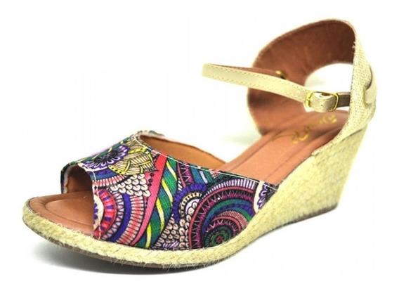 Sapatos Femininos Sandalia Espadrilles Colorido Dani K