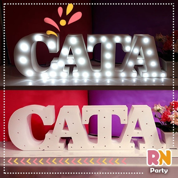 4 Letras, Nombres Luminosos 15 Cm - Polyfan Candy Bar