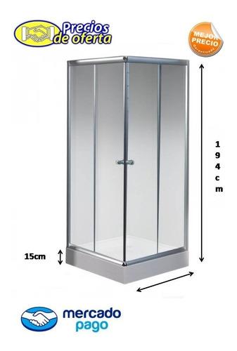 Box Cabina De Ducha 70x70 Cuadradavidrio 5mm + Receptaculo