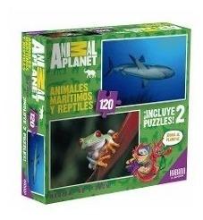 Puzzle Animal Planet - Incluye 2 Puzzles - 120 Piezas Habano