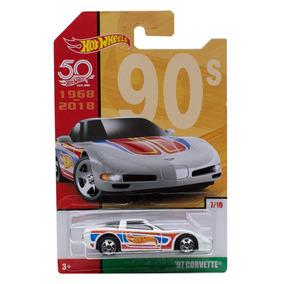 Miniatura 97 Corvette Aniversário 50 Anos Retro Hot Wheels