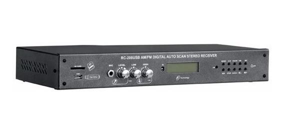 Amplificador Potência Mesa Cabeçote Receiver Nca Rc200 Usb
