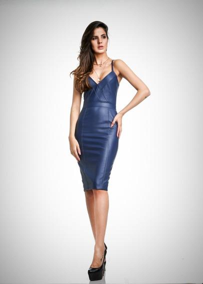 Vestido Camilla Azul M Due Tre