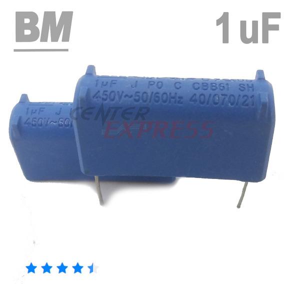 Kit Com 10 Capacitor 1 Uf Mf - Original