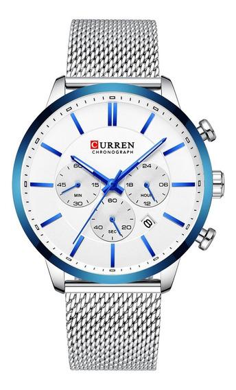 Curren 8340 Relógios De Quartzo Azul