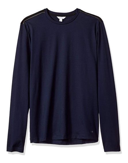 Playera Calvin Klein Camisa Slim Fit Jersey Manga Larga Ck