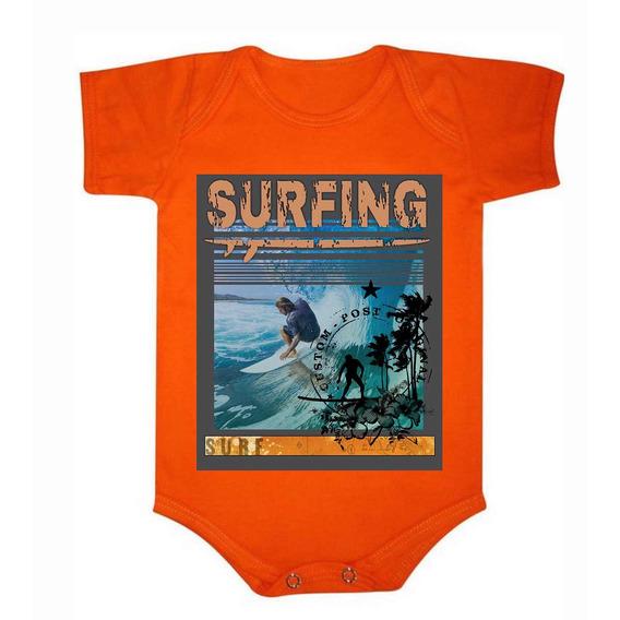 Roupa De Bebê Body De Algodão Surf Baby - 035