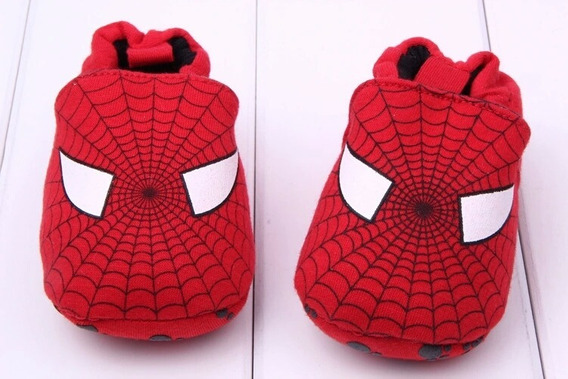 Pantufa Para Bebê Primeiros Passos Homem Aranha - Meninos