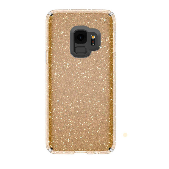 Speck Funda Presidio Clear Glitter Galaxy S9 Gold/clear