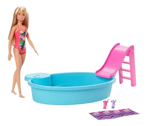 Barbie- Estate, Piscinacon Muñeca- Ghl91