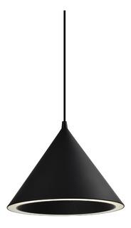 Colgante Thai 1 Luz Negro Anillo 18w Led Deco Moderno Cie