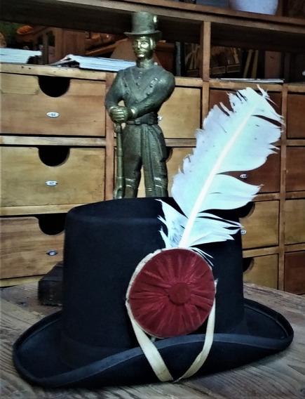 Sombrero Galera De Patricio Antiguo Original Completo