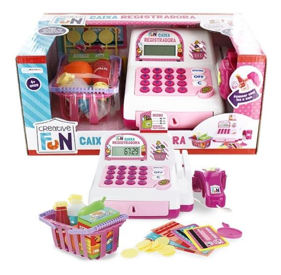 Brinquedos Caixa Registradora Som Luz Creative Fun Multikids