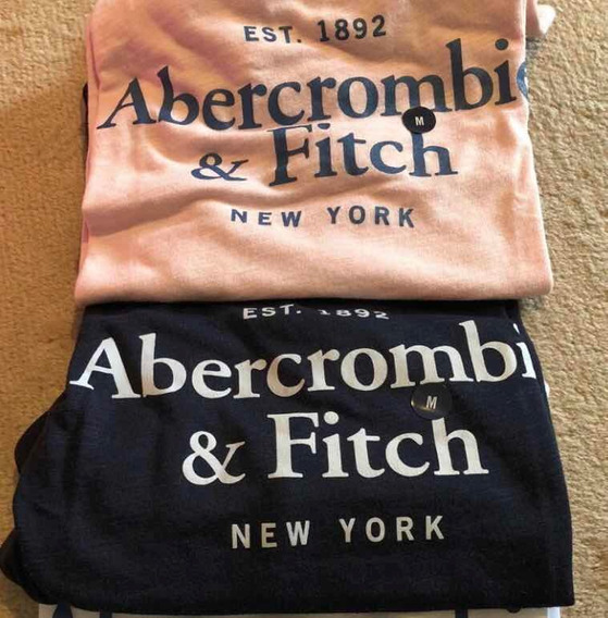 Remeras Abercrombie Mujer Talle M Azul Oscuro Y Rosa