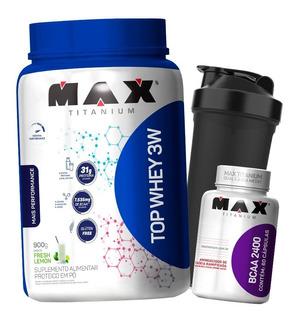 Top Whey Protein 3w - 900g - Max Titanium - Todos Sabores