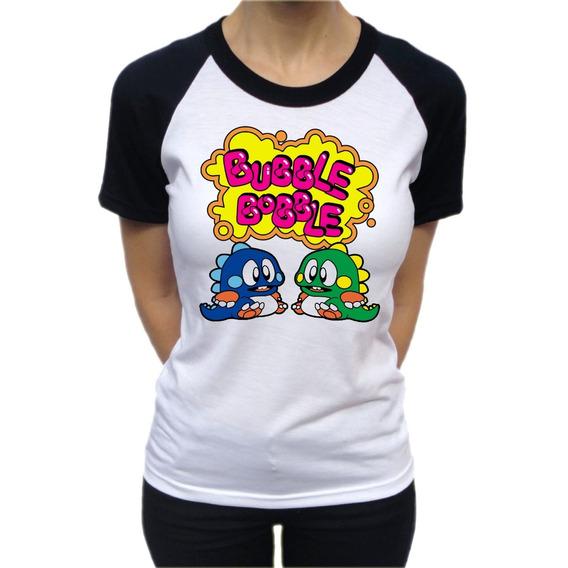 Remera, Bubble Bobble, Para Dama, Remeras Gamer, Retro