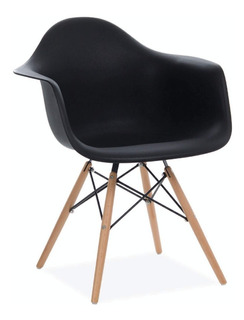 Sillón Silla Eames Blanco O Negro Diseño Living Comedor 1ª