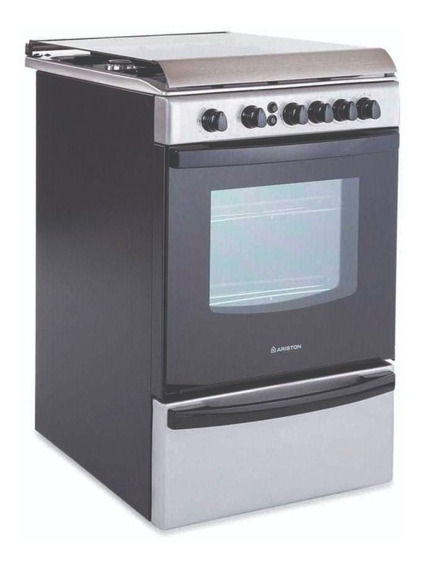 Cocina A Gas Ariston Cg-54s-g1m 4 Hornallas Inox Lhconfort