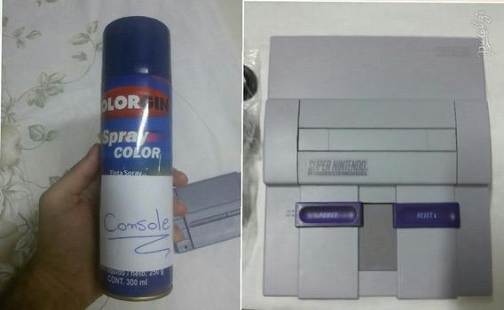 Spray Cinza Nintendo Cor Console