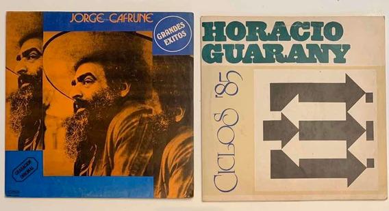 Dos Discos Jorge Cafrune Y Horacio Guaraní , Excelentes!!