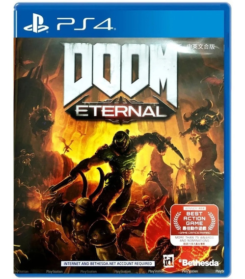 Doom Eternal + Dlc - Ps4 - Mídia Física