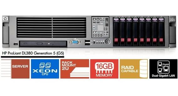 Servidor Hp Dl380 G5 - 2 Xeon / 16g / Hd 600 Gb Sas