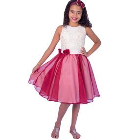 Vestido Infantil Festa Menina Aniversario