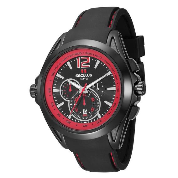 Relógio Masculino Analógico Seculus 20204gpsvpu1 - Preto