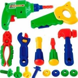 Conjunto Ferramentas Brinquedo Infantil 16 Peças Calesita
