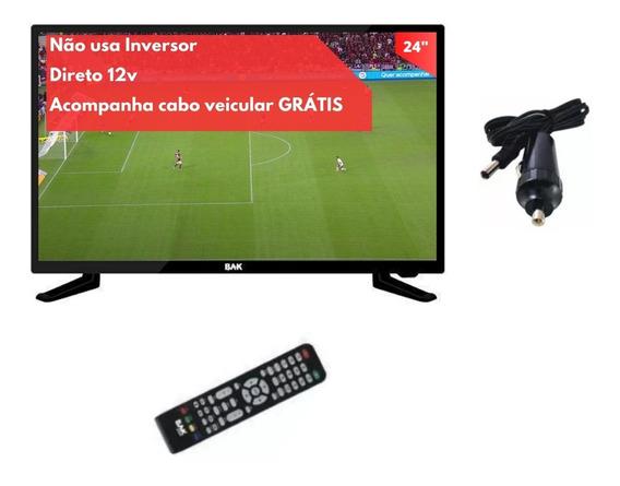 Tv 12 Volts Digital Caminhâo Carro Van Onibus Frete Gratis