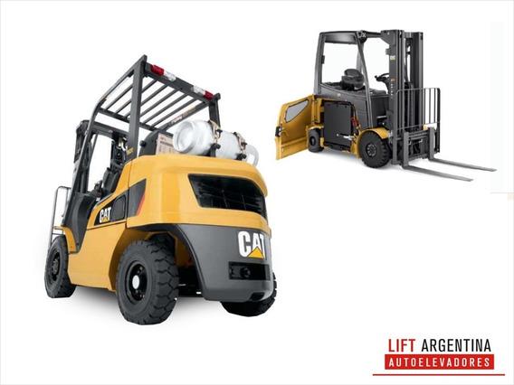 Autoelevador Cat 3,5 T Diesel Impecable